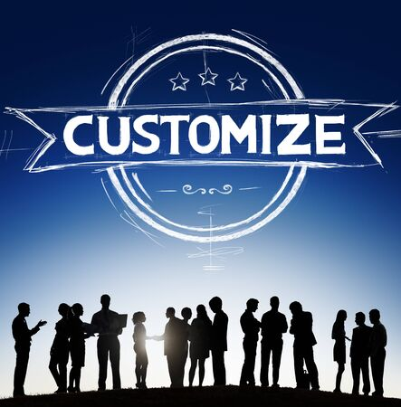 personalize: Customize Personalize Individualize Service Products Concept Stock Photo
