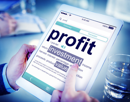 financial planning: Profit Investment Digital Divice Business Income Sales Concept