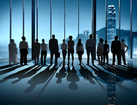 night vision: Business People Silhouette The Way Forward Vision Concepts