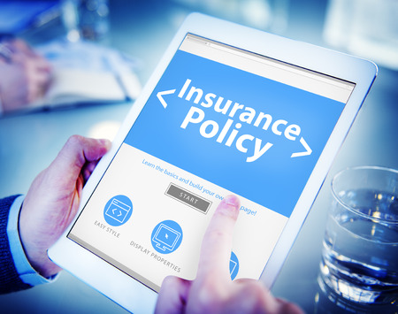 Insurance Policy Protection Risk Security Concepts Standard-Bild