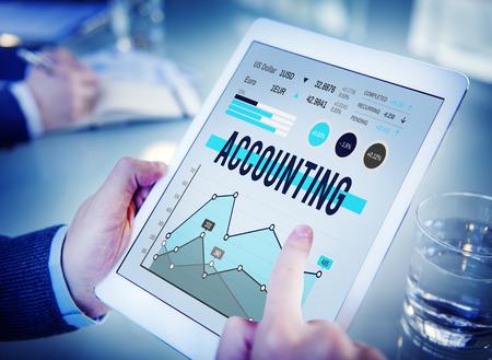 contabilidad financiera: Gestión Contabilidad Finanzas Marketing de Negocios Concepto Foto de archivo