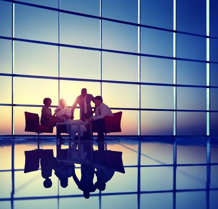 비즈니스 기업 인민 회의 토론 팀 개념