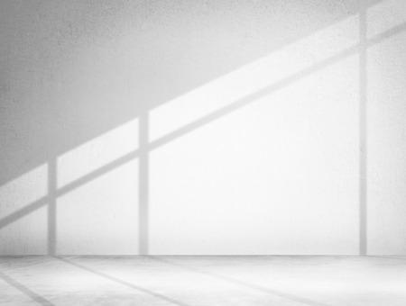 コンクリートの部屋コーナー影セメント壁紙概念