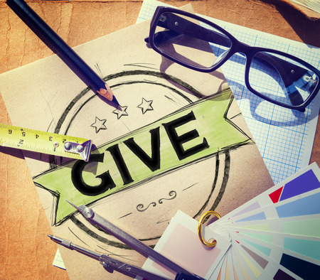 medium group of object: Give Help Donation Support Provide Volunteer Concept