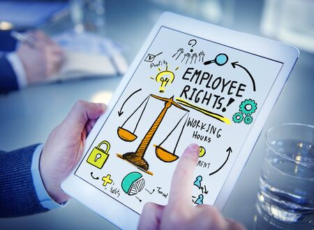 employee: Employee Rights Employment Equality Job Office Browsing Concept