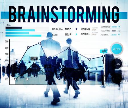 Brainstorming Réunion de planification de plan d'affaires Concept