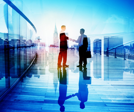 people shaking hands: Business People Hand Shake Partnership Teamwork Deal Cooperation Stock Photo