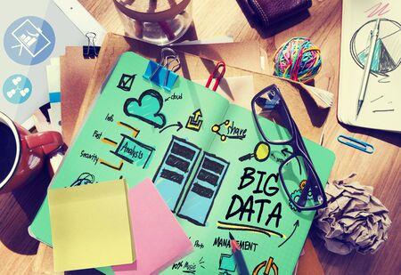 to data: Big Data Storage Online Technology Database Concept Stock Photo