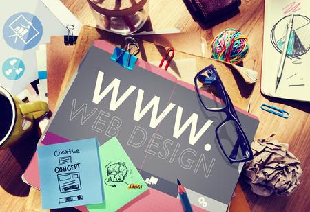 웹 디자인 웹 WWW 개발 인터넷 미디어 창의적인 개념 스톡 콘텐츠