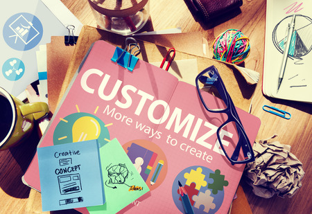 Customize Ideas Identity Individuality Innovation Personalize Concept 版權商用圖片