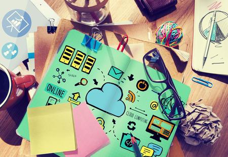 communications tools: Cloud Computing Network Online Internet Storage Concept