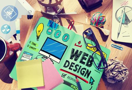 Web デザイン開発スタイルのアイデア インターフェイス概念 写真素材