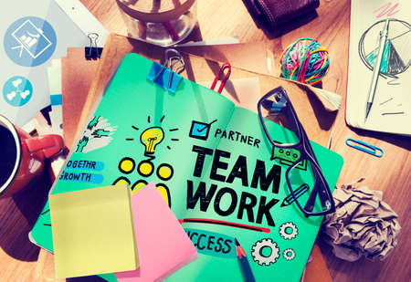 Team Teamwork Group Collaboration Organization Concept photo