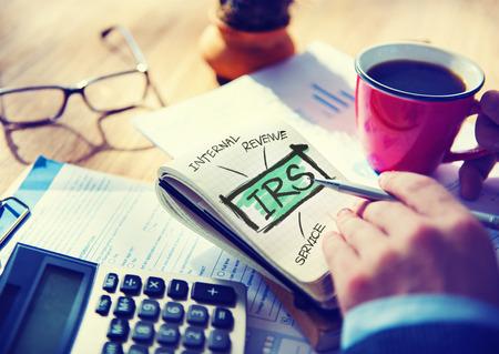病態収益サービス IRS 金融課税政府コンセプト 写真素材
