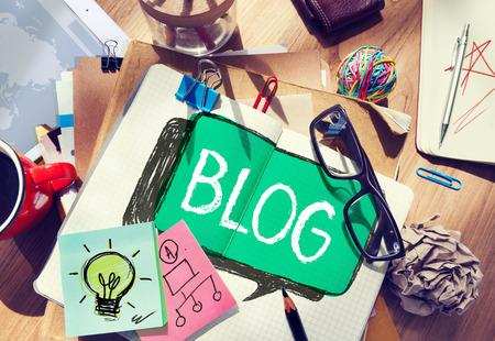 Social Media Connecting Blog Communication Content Concept