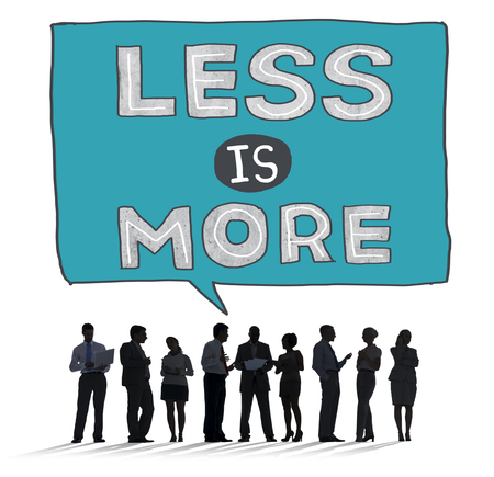 basic scheme: Less is More Minimal Simplicity Efficient Complexity Concept Stock Photo