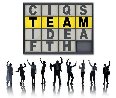 Team Puzzle Problem Solving Corporate Connection Concept photo