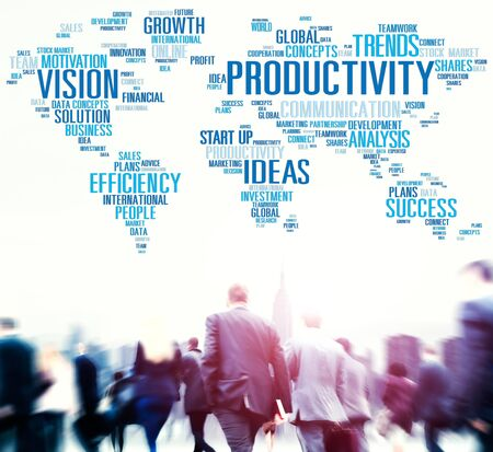 global strategy: Productivity Vision Idea Efficiency Growth Success Solution Concept