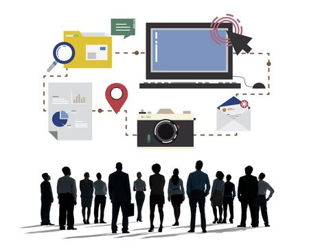 Technology Media Social Network Connection Concept