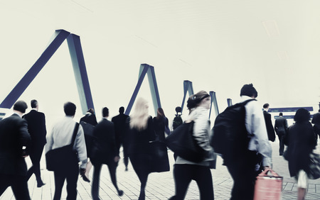 crowded space: Commuter Buiness People Corporate Cityscape Walking Travel Concept