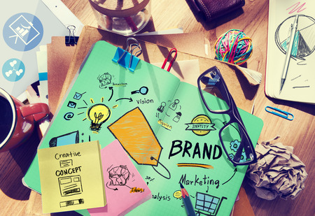 Brand Branding Marketing Commercial Name Concept Imagens - 41323542