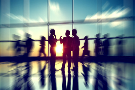 İş Adamları Toplantısı Seminer Konferans Ortaklığı İşbirliği Konsepti