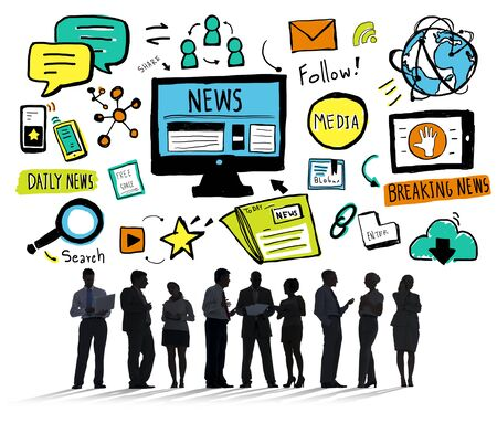 breaking news: News Breaking News Daily News Follow Media Searching Concept Stock Photo