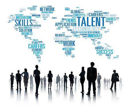 skills diversity: Talent Expertise Genius Skills Professional Concept
