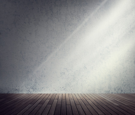 abandoned room: Concrete Room Corner Shadow Sunlight Wallpaper Concept