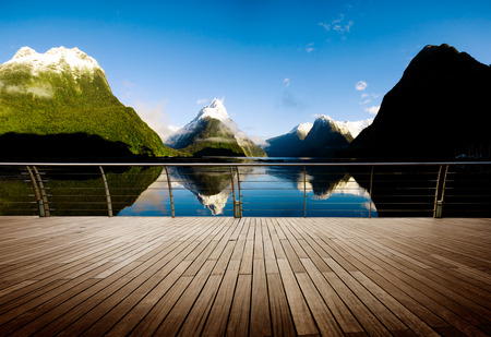 new horizons: Milford Sound New Zealand Travel Destination Concept
