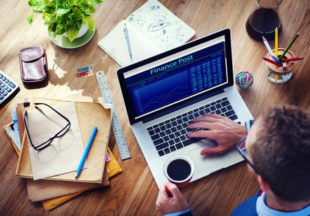 금융 포스트 디지털 장치 인터넷 무선 검색 개념 스톡 콘텐츠