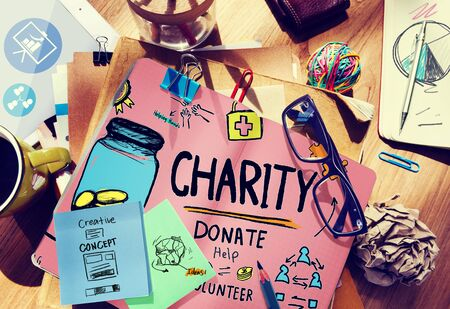 Charity Donate Help Give Saving Sharing Support Volunteer Concept photo