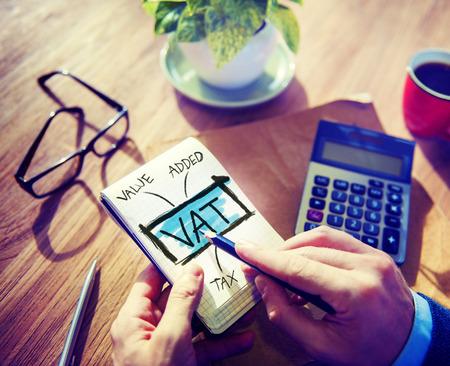 Mehrwertsteuer MwSt Finanzen Besteuerung Accounting Konzept Standard-Bild - 41316908