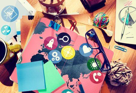 comunicación: Global Comunicaciones Redes sociales Concepto Conexión