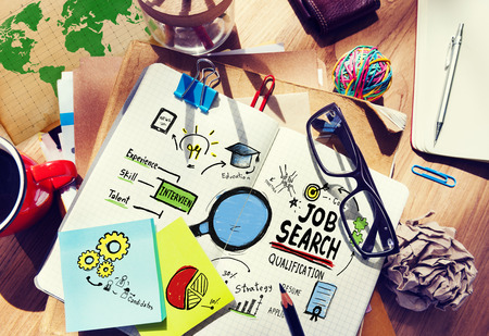Application de recherche d'emploi Planification de carrière Woring Concept Banque d'images - 41316788