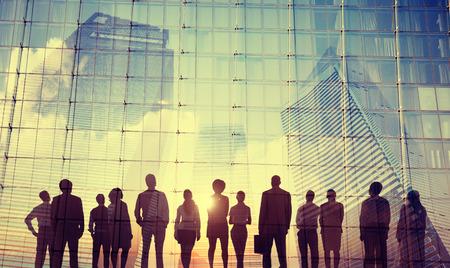 Biznes Ludzie Inspiration Cele Misja Wzrost pojęcie sukcesu