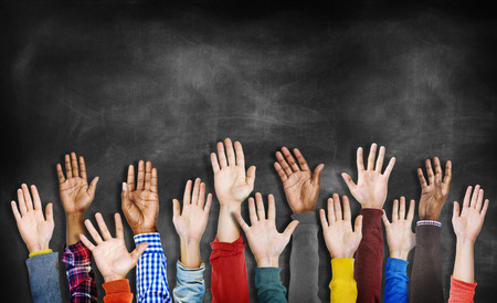 ethnic diversity: Group of Diverse Hands Raised