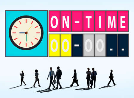 On Time Punctual Efficiency Organization Management Concept photo