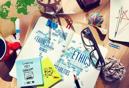 morals: Ethics Ideals Principles Morals Standards Concept