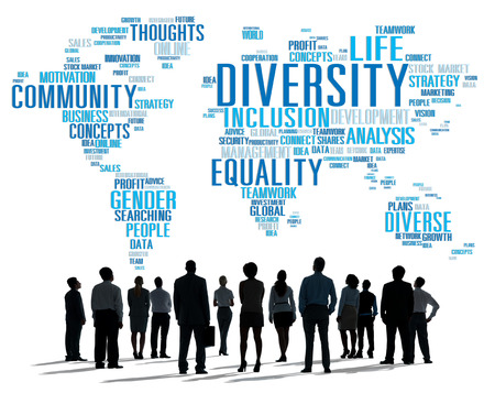 global communications: Diversity Ethnicity World Global Community Concept
