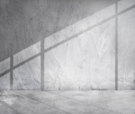 cement: Concrete Room Corner Shadow Cement Wallpaper Concept