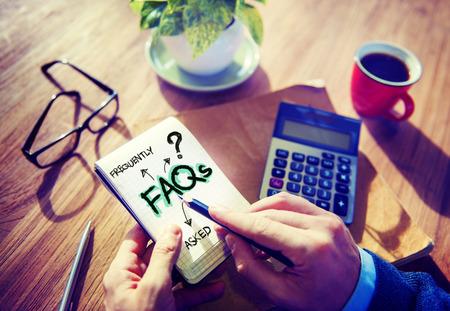 evaluacion: Digital en línea FAQs Comunidad concepto de trabajo de oficina