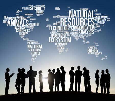 natural resources: Recursos Naturales, Conservación del ambiente Sostenibilidad Concept Foto de archivo