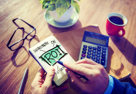 Return On Investment Financial Management Revenue Browsing Concept Stock Photo