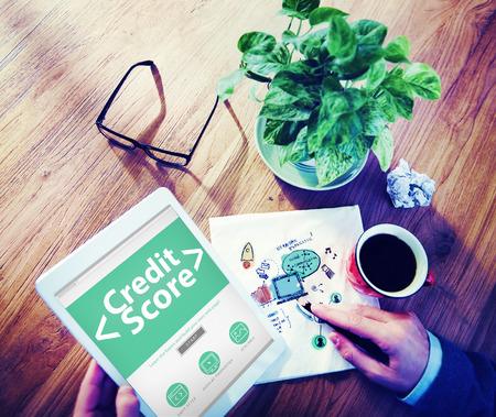 credit score: Digital Online Credit Score Finance Rating Record Concept