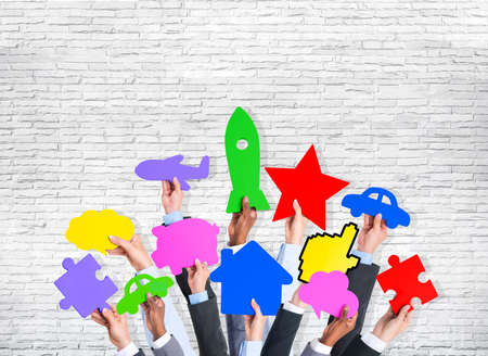 social gathering: Diversity Hands Holding Variation Ideas Colorful Icons Concept
