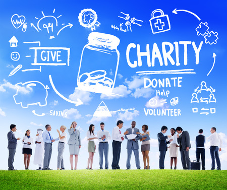 charity work: Business People Discussion Give Help Donate Charity Concept