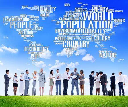 poblacion: Mundial de la Poblaci�n Mundial Gente Concepto de Comunidad Internacional