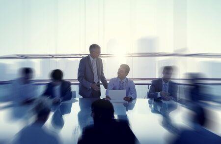 table boardroom: Business Concepts Ideas Coopration Decision Communication Concept