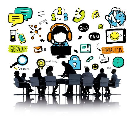 business service: Customer Service Help Business Service Solution Support Concept